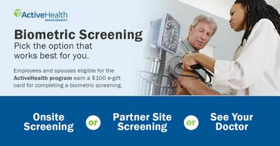 Biometric screening graphic