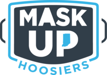 Mask Up Hoosiers campaign logo