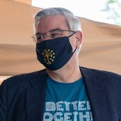 Governor Eric Holcomb wearing a mask