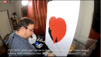 Lahr's screenshot of lunch and canvas event