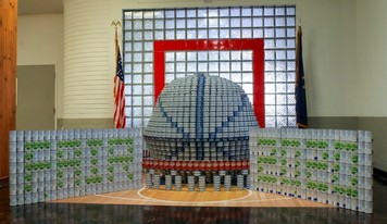 CANStruction 2020 piece