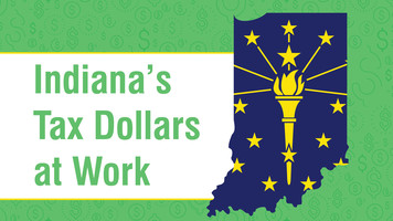 Indiana Tax Dollars at work banner