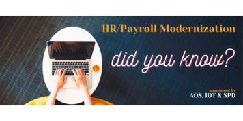 Payroll Modernization Project banner