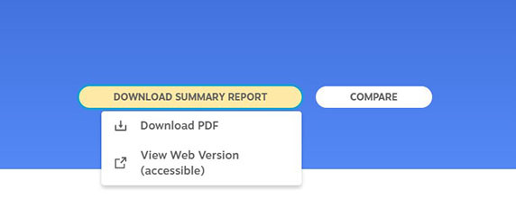 This is a screen shot of what the School Report Card school summary buttons look like.