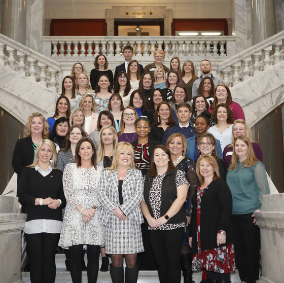 A group of teachers newly certified by the National Board for Professional Teaching Standards were recognized in Frankfort Feb. 11.