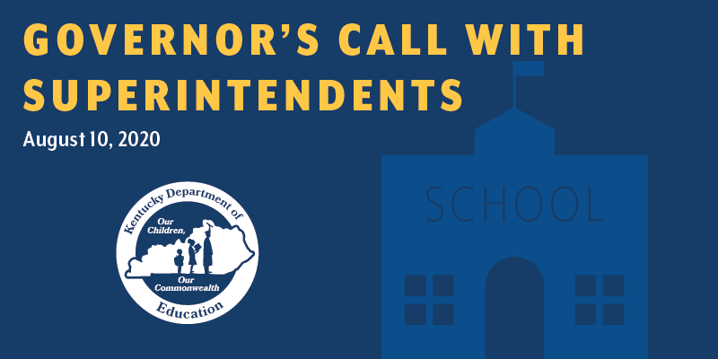 Governor's Call with Superintendents