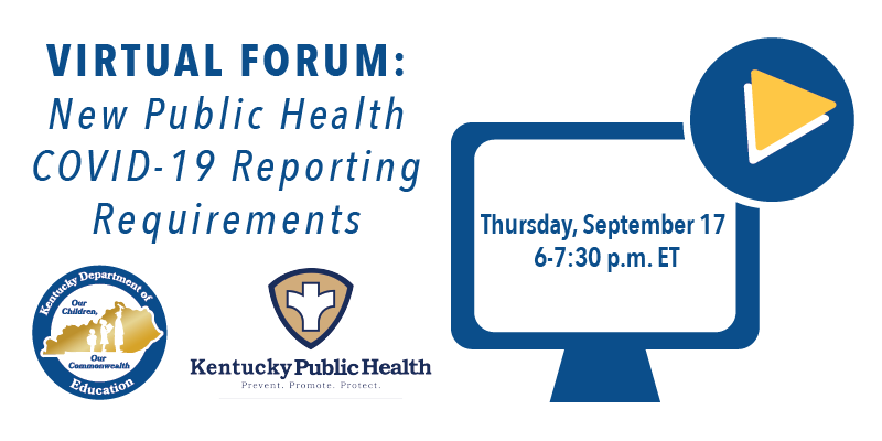 Virtual Forum: New Public Health COVID-19 Reporting Requirements. Thursday, Sept. 17, 6-7:30 p.m.