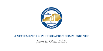 Statement from Education Commissioner Jason E. Glass