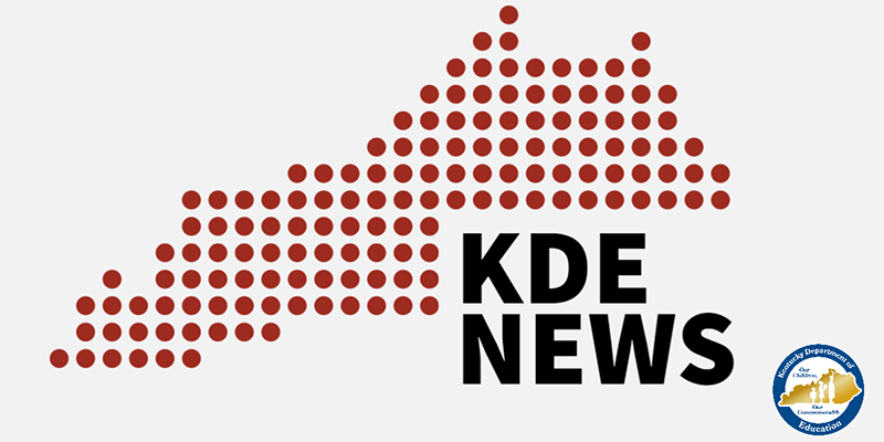 An outline of Kentucky with the words KDE News