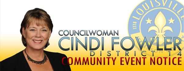 Councilwoman Cindi Fowler Community Notice