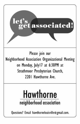 Hawthorne Neighborhood Meeting