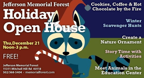 Jefferson memorial forest holiday open house