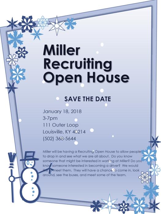 Miller Recruiting Open House