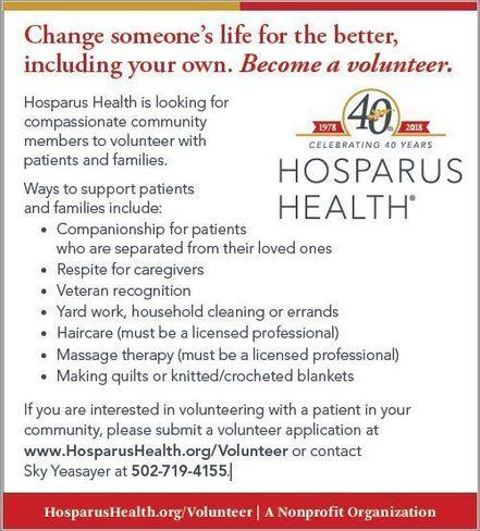 hosparus volunteers needed