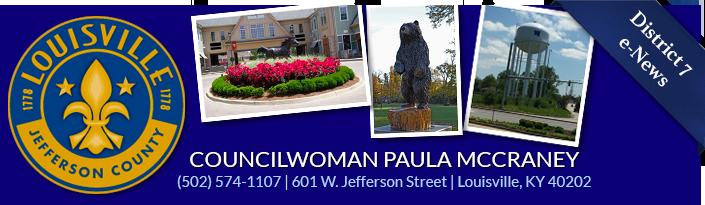 Councilwoman PaulaMcCraney 601 W. Jefferson Street (502) 574-1107