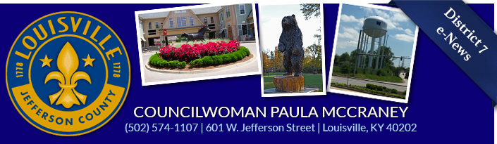 Councilwoman Paula McCraney 601 W. Jefferson Street (502) 574-1107