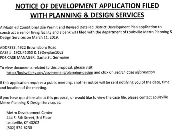 development notice