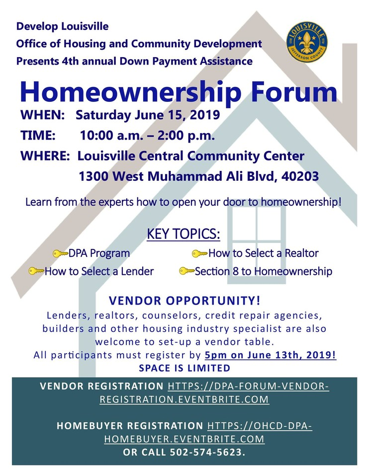 Homeownership Forum Flier 2019