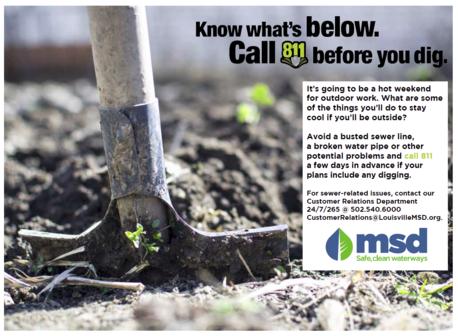 MSD - Call before digging