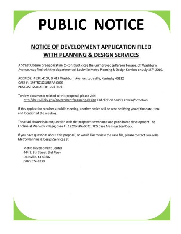 Public Notice - 8-16