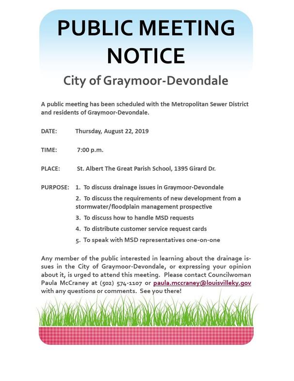 Public Notice - Graymoor-Devondale
