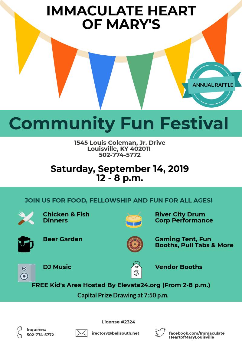 Community Fun Fest Flier