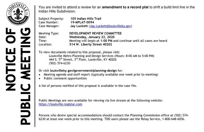 Public Notice 1-2020