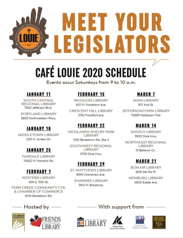 Cafe Louie Schedule