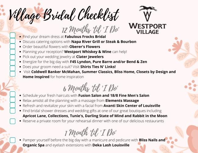 Bridal Timeline