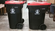 recycling carts side