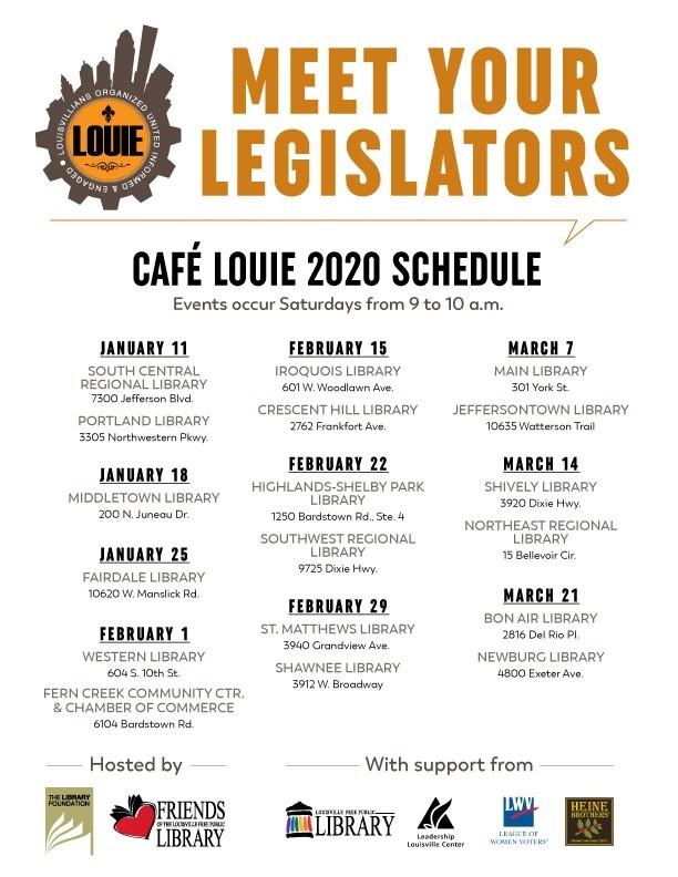 Cafe Louie flyer