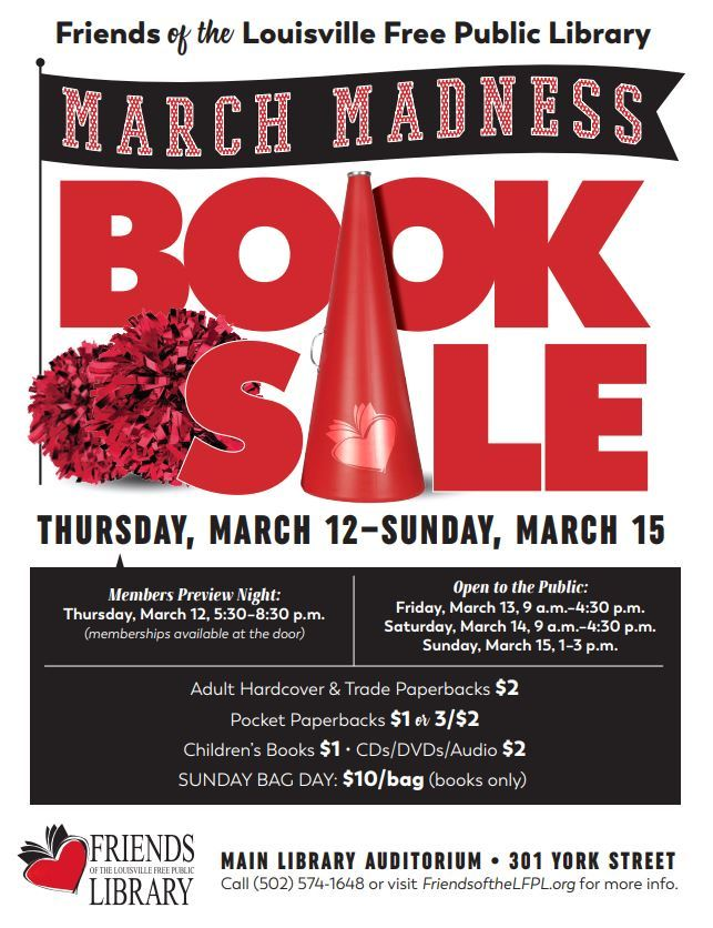 March Madness Book Sale flyer