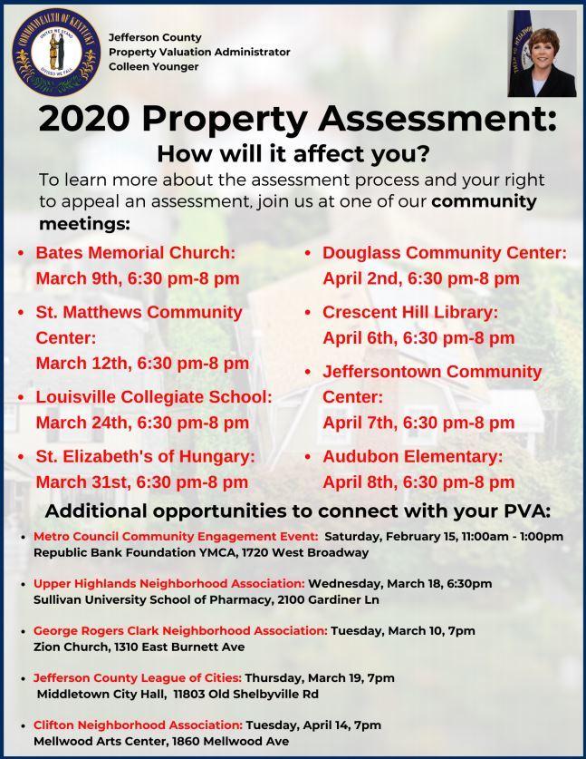 PVA community meetings flyer