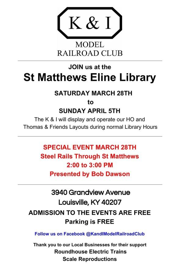 Model Railway display flyer