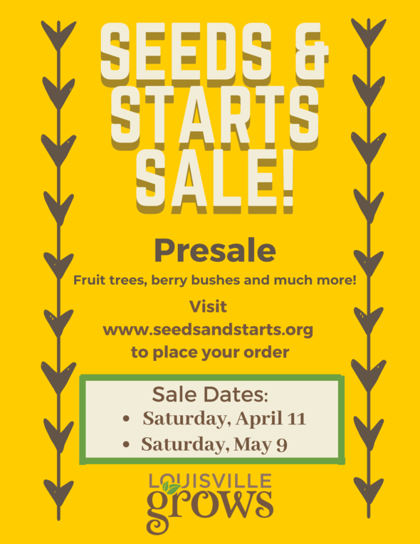 Seeds and Starts Sale flyer