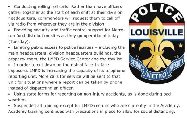 LMPD COVID Update