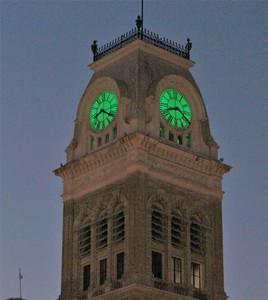 CH Clock Green