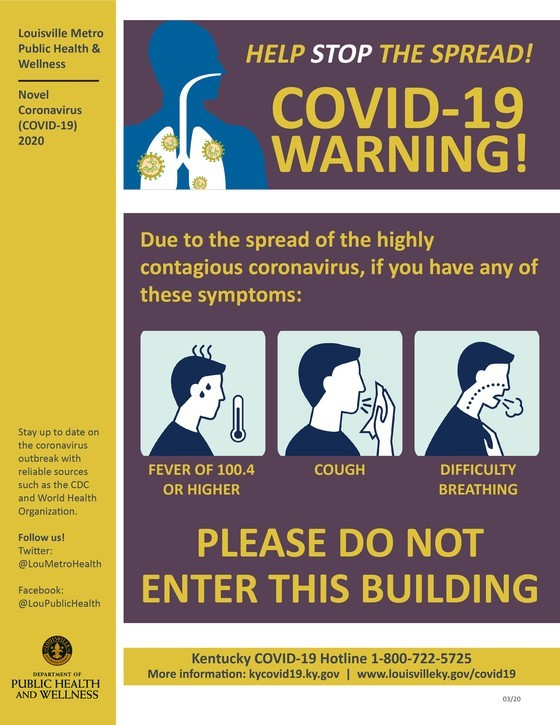 Stop Do Not Enter COVID