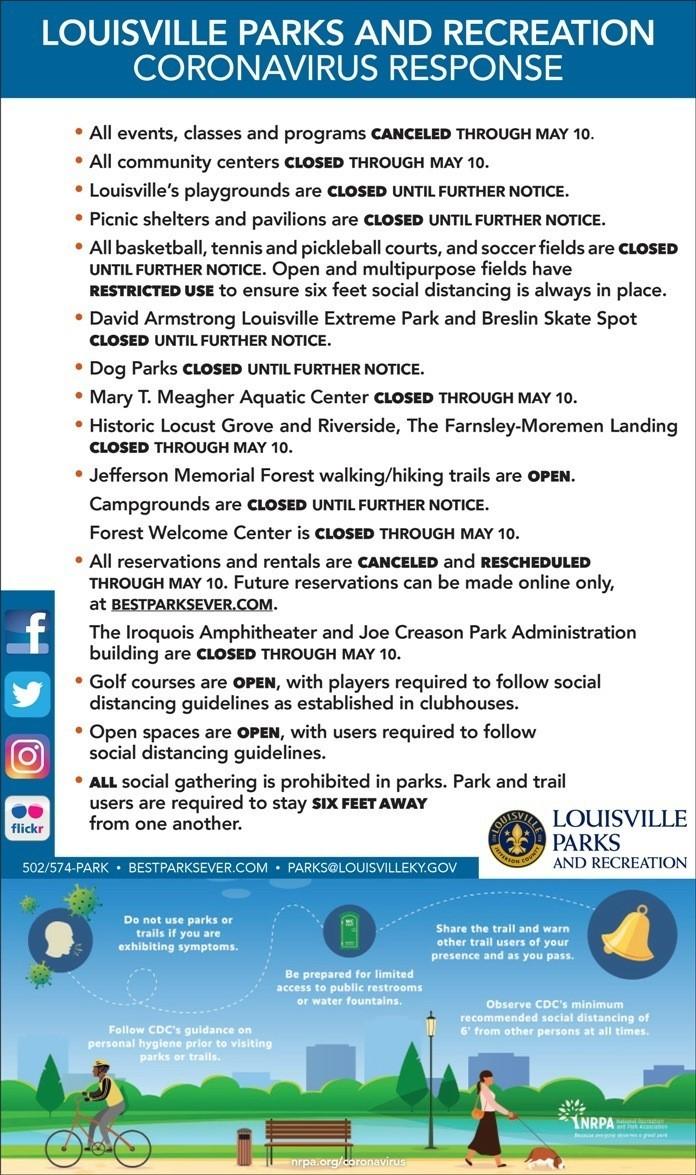 parks response COVID