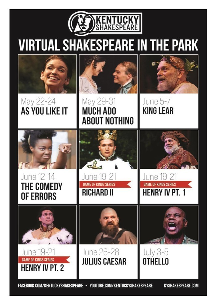 Shakespeare 2020 schedule