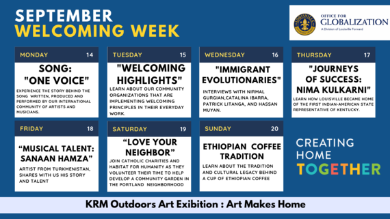 Welcoming Week Calendar