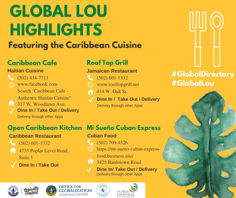 Global Lou Highlights - Caribbean Cuisine