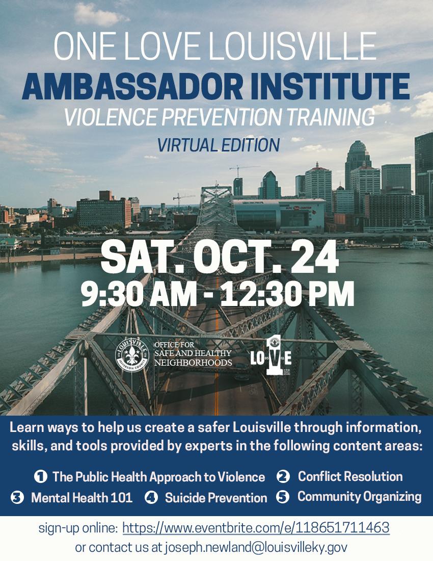 Ambassador Institute Violence Prevention Training