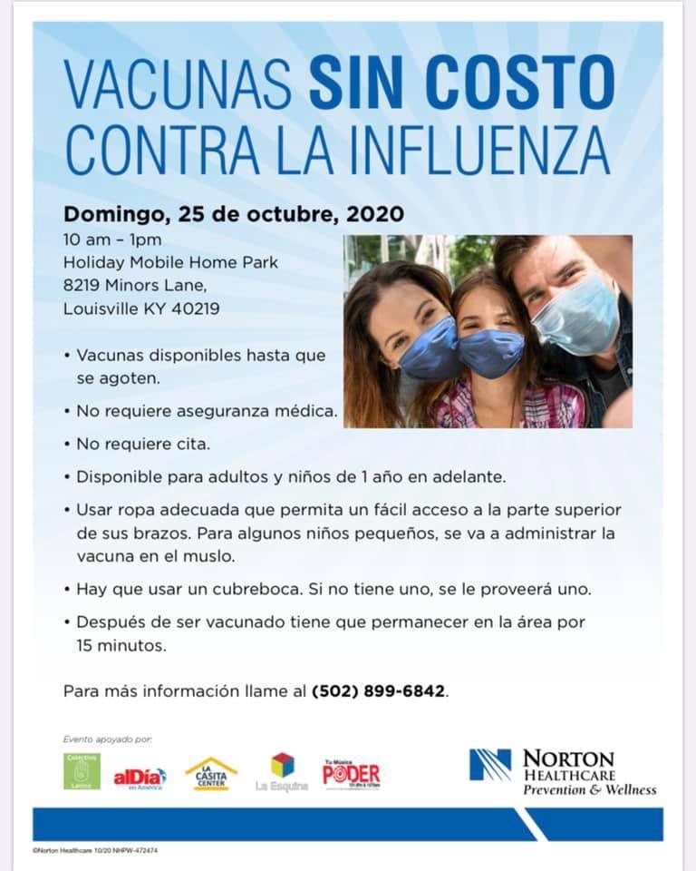 Flu vaccine flier