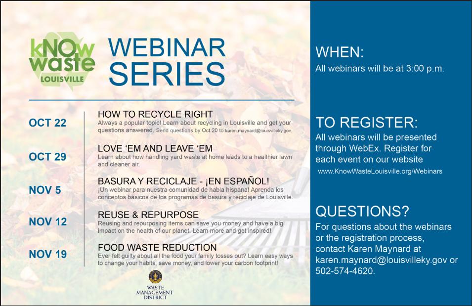 Know Waste Webinars