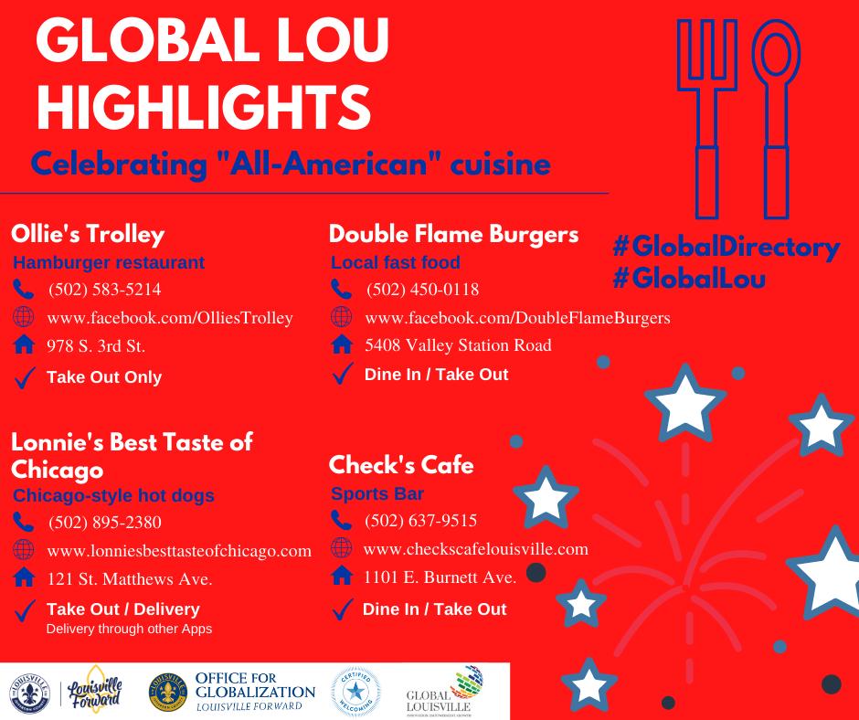 Global Lou Highlights - All-American cuisine