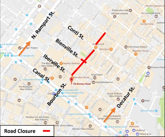 Mayor - News - Archive - 2017 - 20171116 TA Traffic Advisory ... on french quarter bourbon street, map of new orleans mardi gras, map of new orleans french market, map of new orleans riverside, map of new orleans canal street, 300 bourbon street, blue girl on bourbon street, map of new orleans airport and port, map of new orleans riverwalk, map of city of new orleans, map of new orleans west bank, best hotels on bourbon street, businesses on bourbon street, map of new orleans metro, map of new orleans magazine street, map of new orleans after katrina, map of bourbon street hotels, map of new orleans tulane university, map of poydras street new orleans, map of new orleans mississippi river,