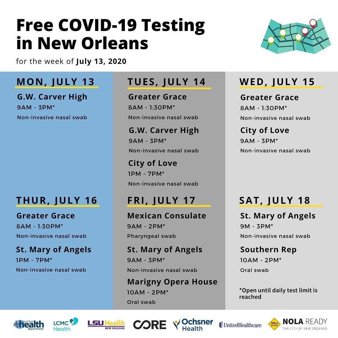 Week of 7.13 COVID Testing