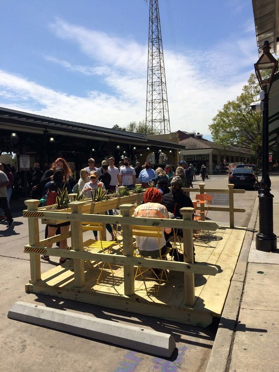 City of New Orleans and Partners Debut Demonstration Parklet