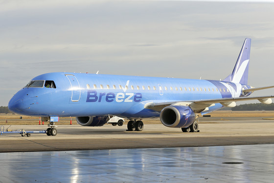 Breeze Airways Launches at MSY with 10 Destinations